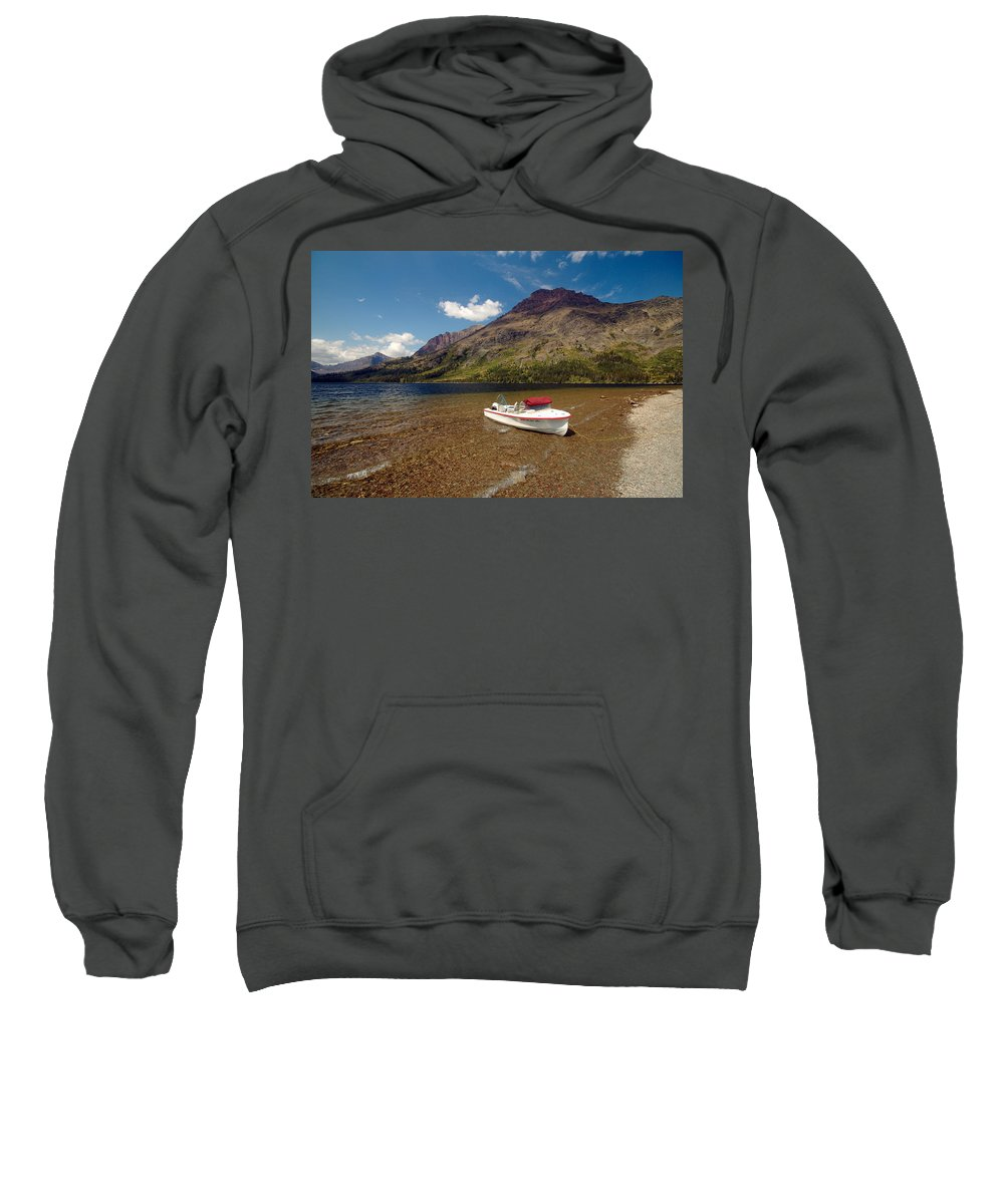 Moutains Sweatshirt featuring the photograph Moutain Lake by Sebastian Musial