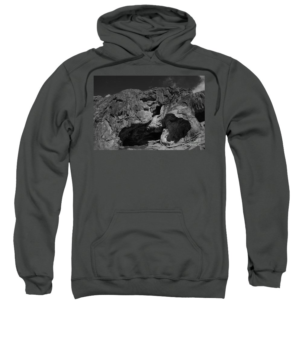 New Mexico Sweatshirt featuring the photograph Mouth Of Rock by Melissa McInnis