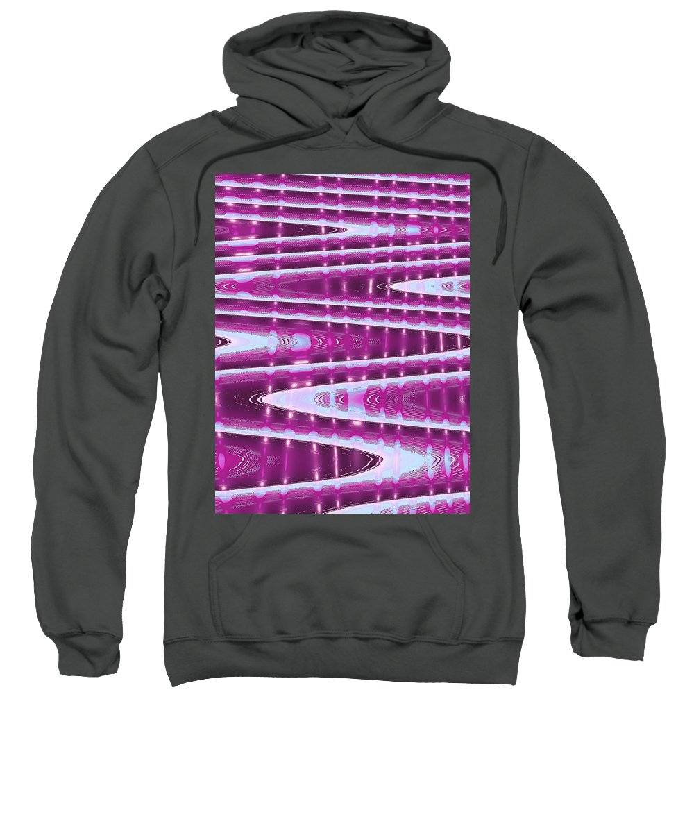 Moveonart! Digital Gallery Sweatshirt featuring the digital art Moveonart Abstract Waves And Light One by Jacob Kanduch