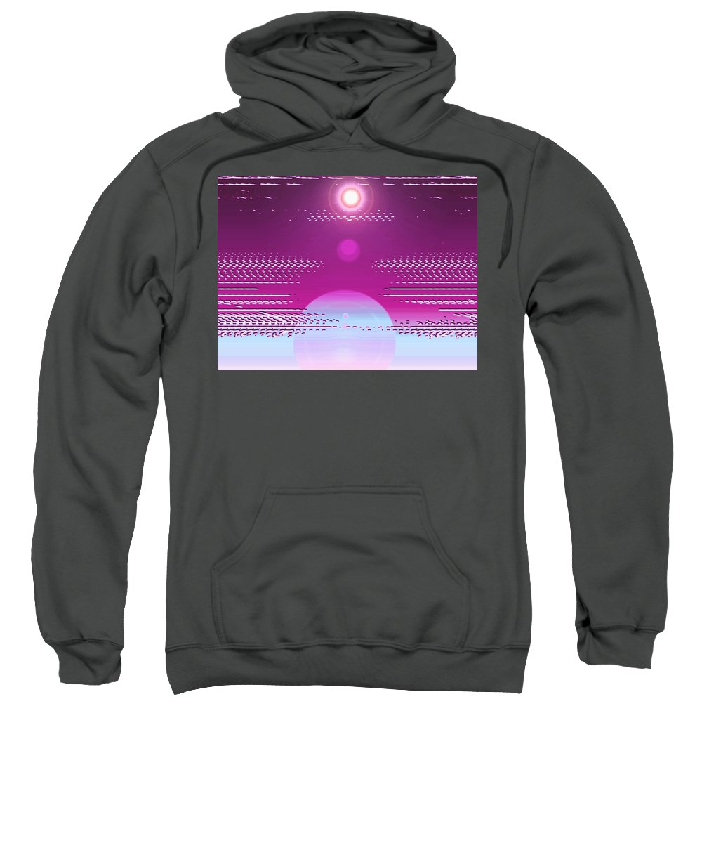 Moveonart! Digital Gallery Sweatshirt featuring the digital art Moveonart Calming Cosmic Centering One by Jacob Kanduch