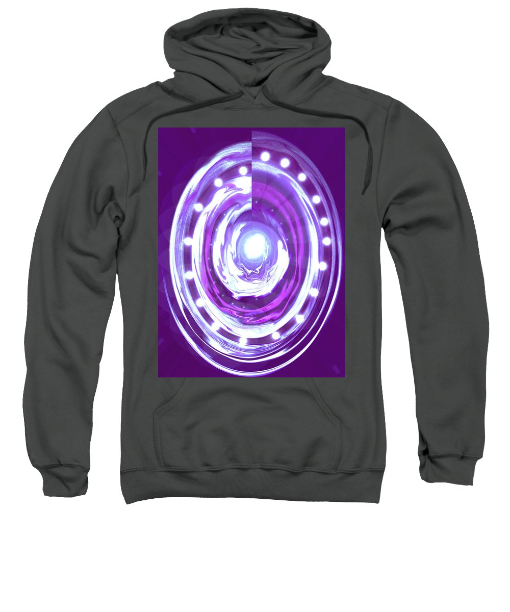 Moveonart! Digital Gallery Sweatshirt featuring the digital art Moveonart Christmas 2009 Collection Opportunity Light Wreath by Jacob Kanduch