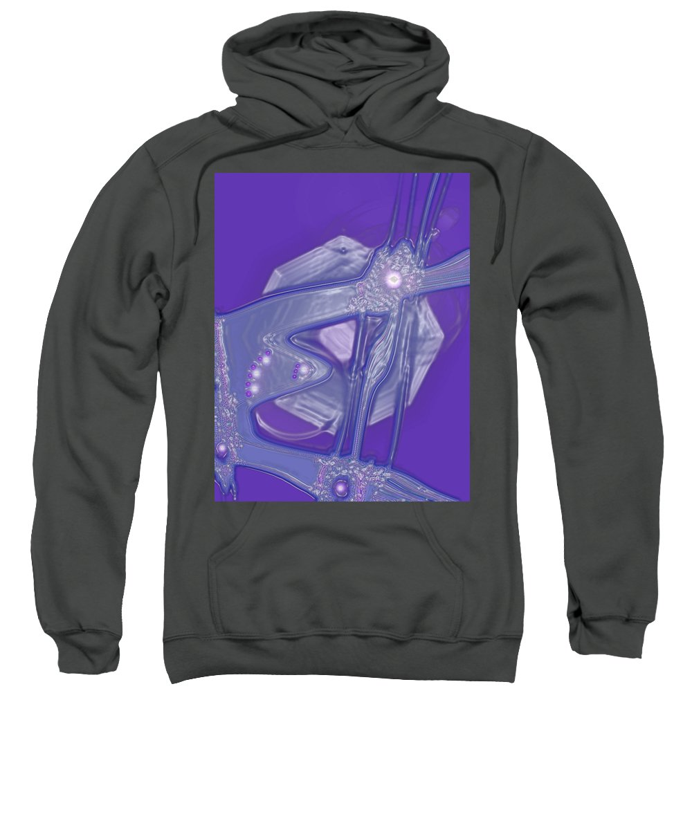 Moveonart! Digital Gallery Sweatshirt featuring the digital art Moveonart Creative Peaceful Creature Four by Jacob Kanduch