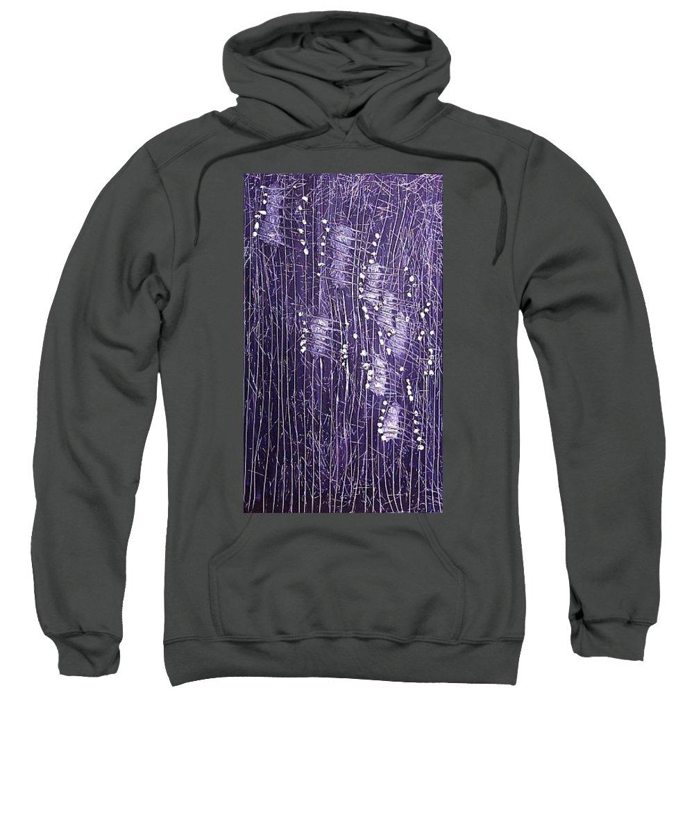 Moveonart! Digital Gallery Sweatshirt featuring the painting Moveonart Days Of Yore by Jacob Kanduch