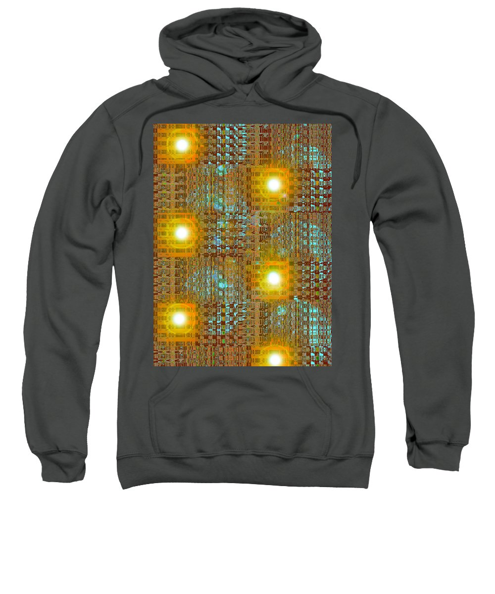 Moveonart! Digital Gallery Sweatshirt featuring the digital art Moveonart Eye And Light Engagement Two by Jacob Kanduch