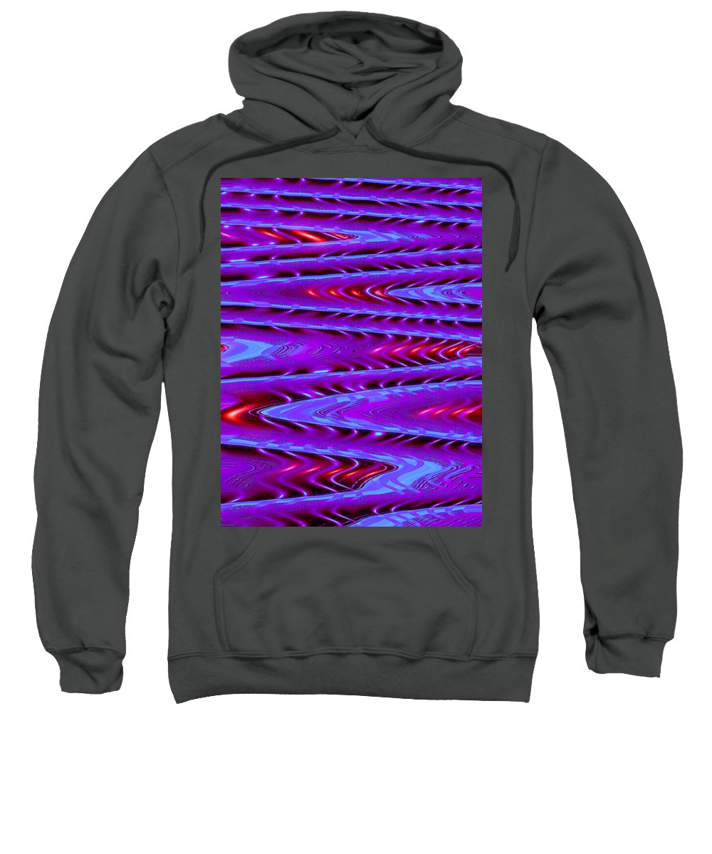 Moveonart! Digital Gallery Sweatshirt featuring the digital art Moveonart Future Texture Now One by Jacob Kanduch
