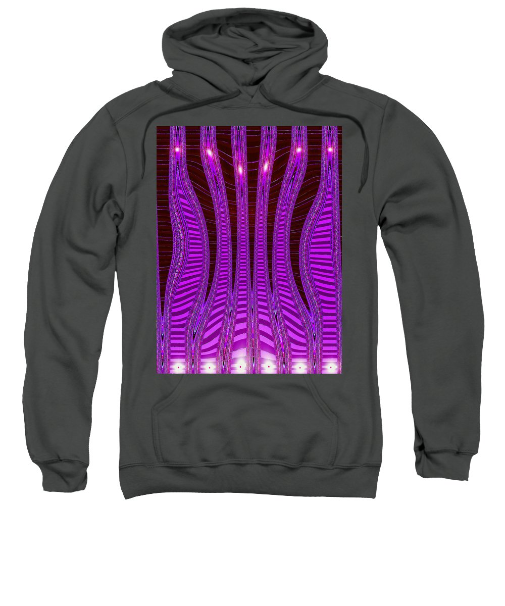 Moveonart! Digital Gallery Sweatshirt featuring the digital art Moveonart Future Texture Now Two by Jacob Kanduch