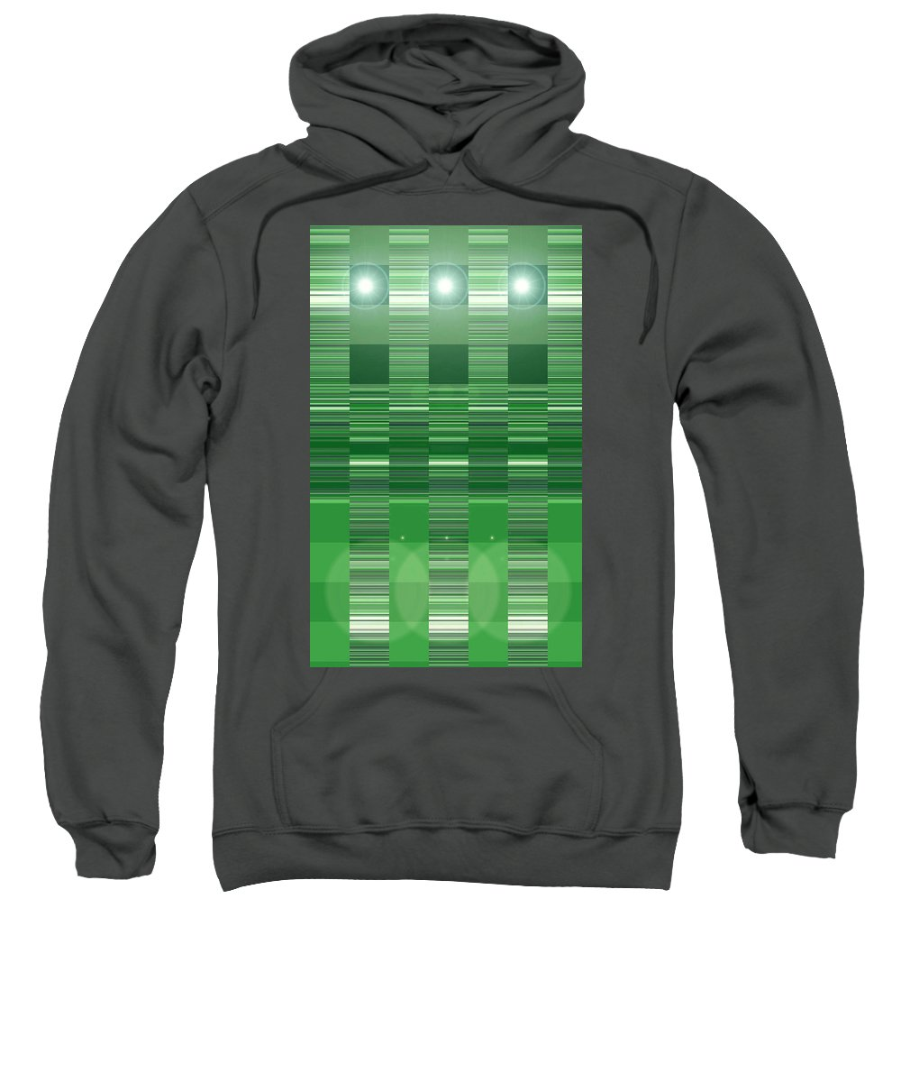 Moveonart! Digital Gallery Sweatshirt featuring the digital art Moveonart Green Program Five by Jacob Kanduch