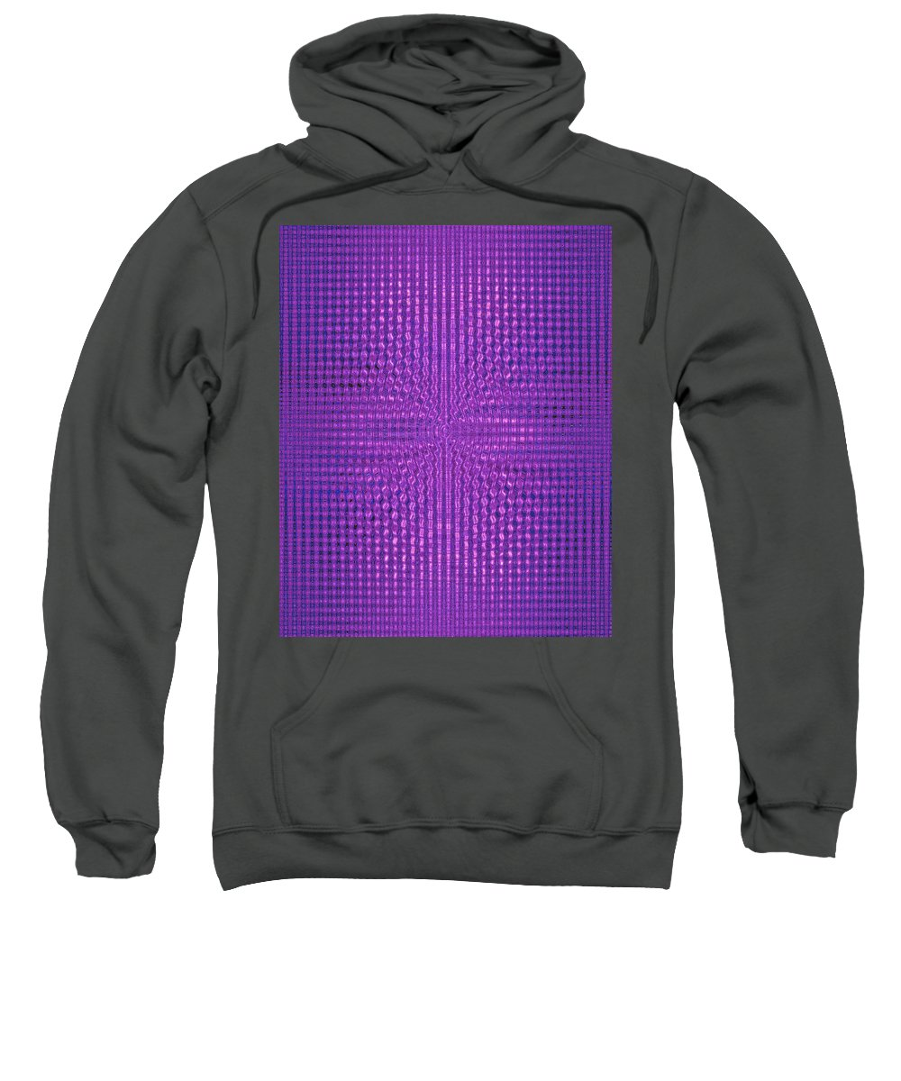 Moveonart! Digital Gallery Sweatshirt featuring the digital art Moveonart Intentionally Intelligently Impressed Violet Therapy One by Jacob Kanduch