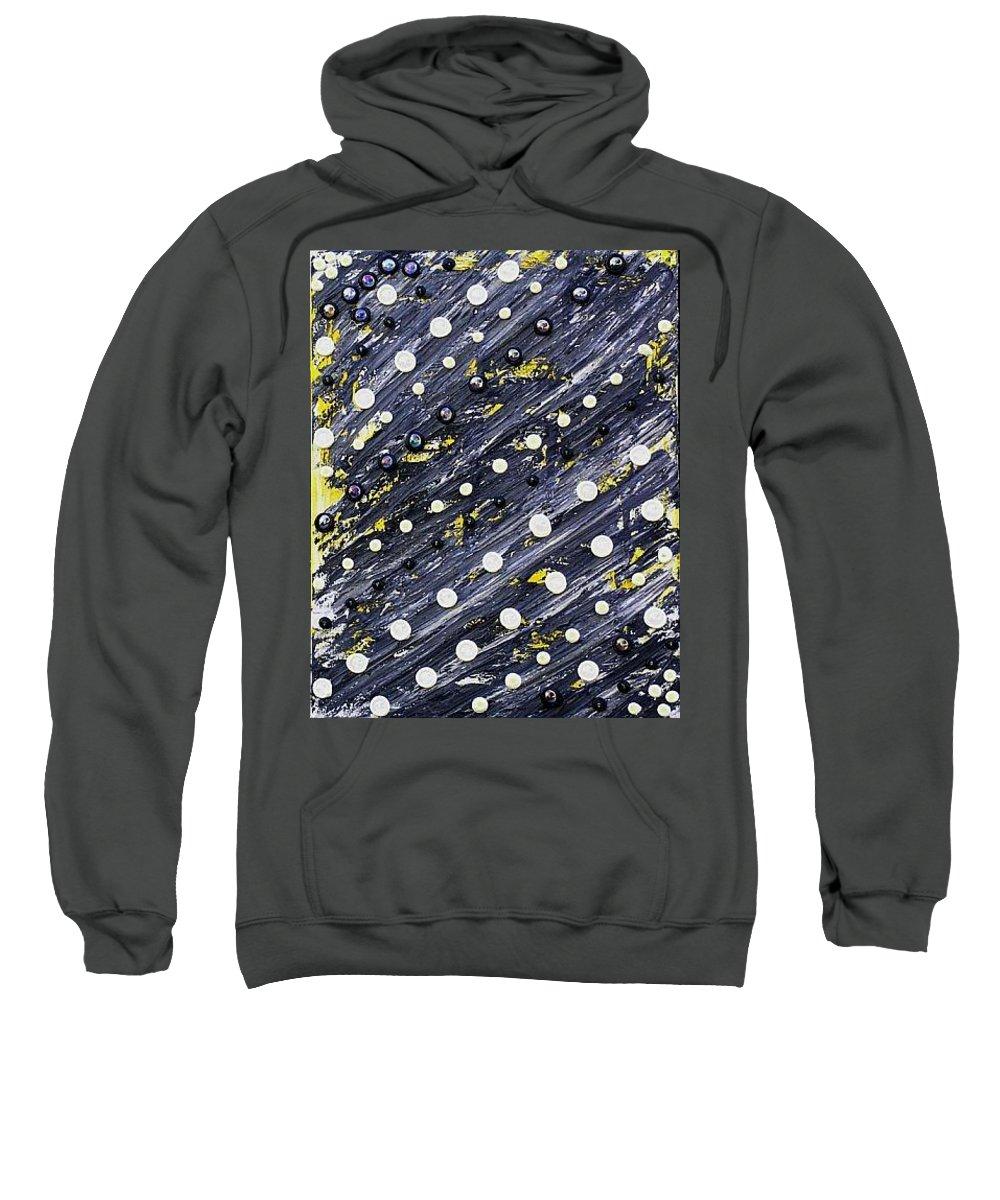 Moveonart! Digital Gallery Sweatshirt featuring the painting Moveonart Larrys Painting by Jacob Kanduch