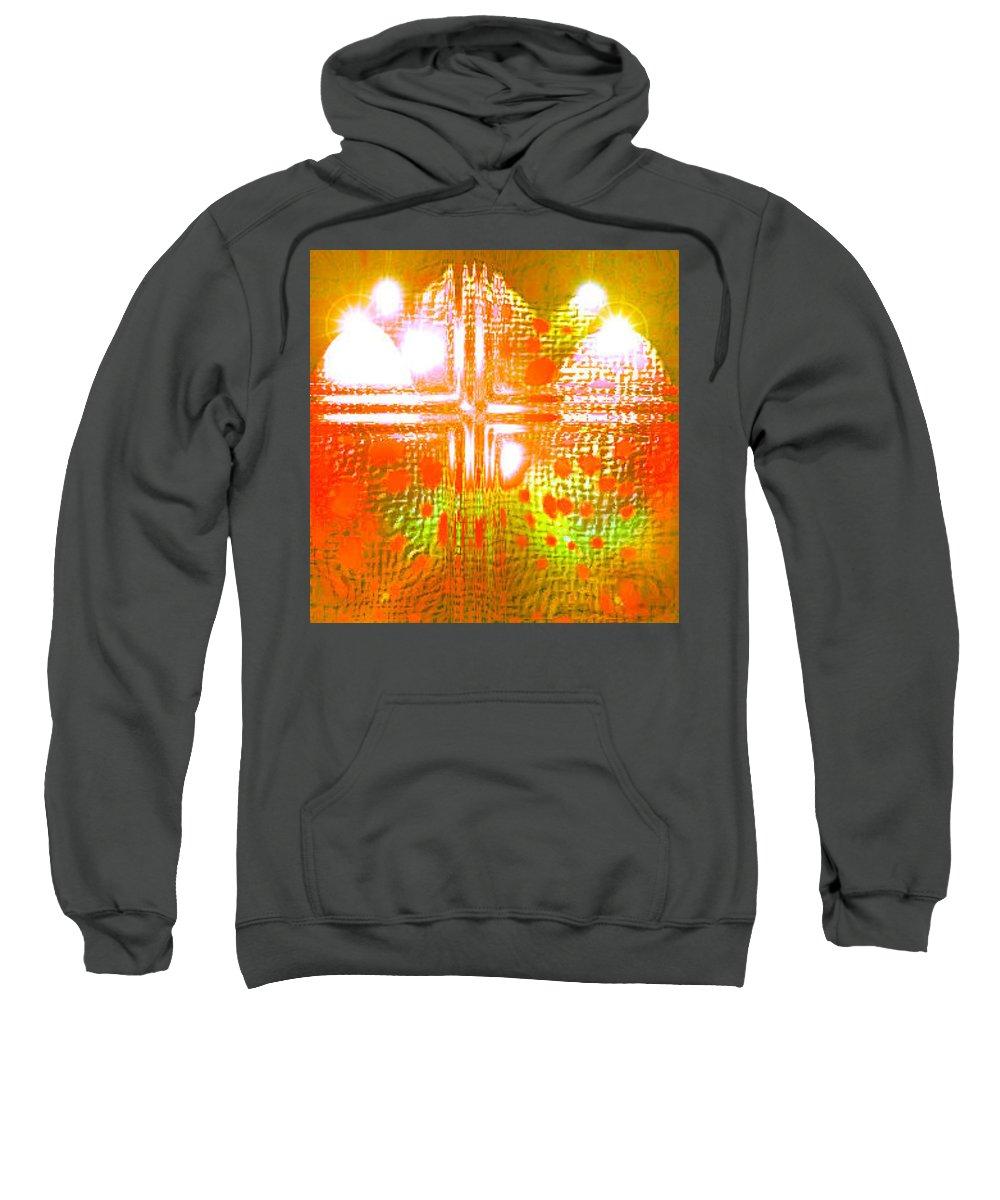 Moveonart! Digital Gallery Sweatshirt featuring the digital art Moveonart Life Revelation by Jacob Kanduch