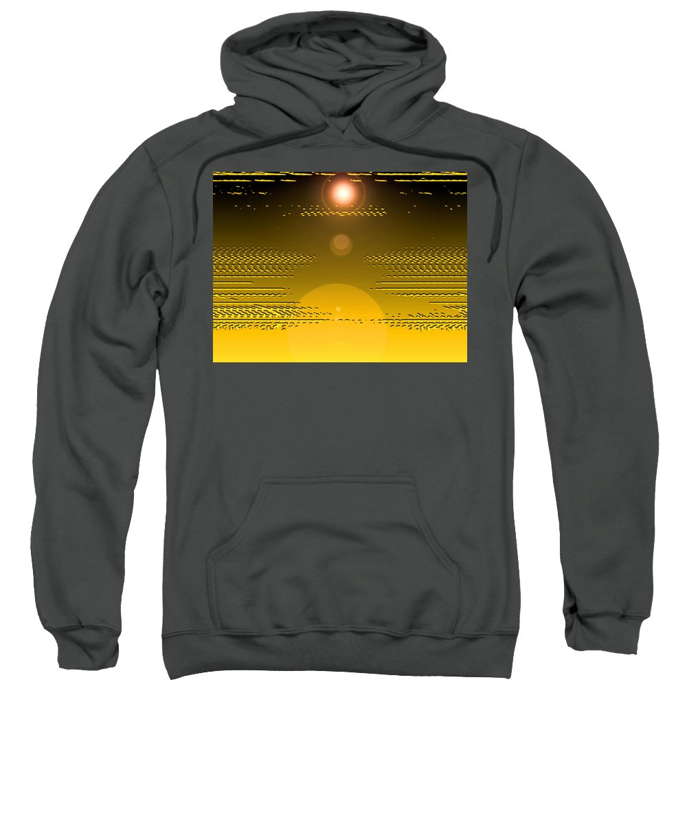 Moveonart! Digital Gallery Sweatshirt featuring the digital art Moveonart Light Rise In The Darkness by Jacob Kanduch