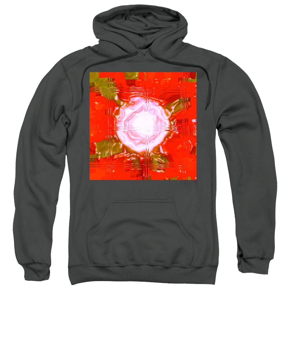 Moveonart! Digital Gallery Sweatshirt featuring the digital art Moveonart Light Saturation With Red by Jacob Kanduch