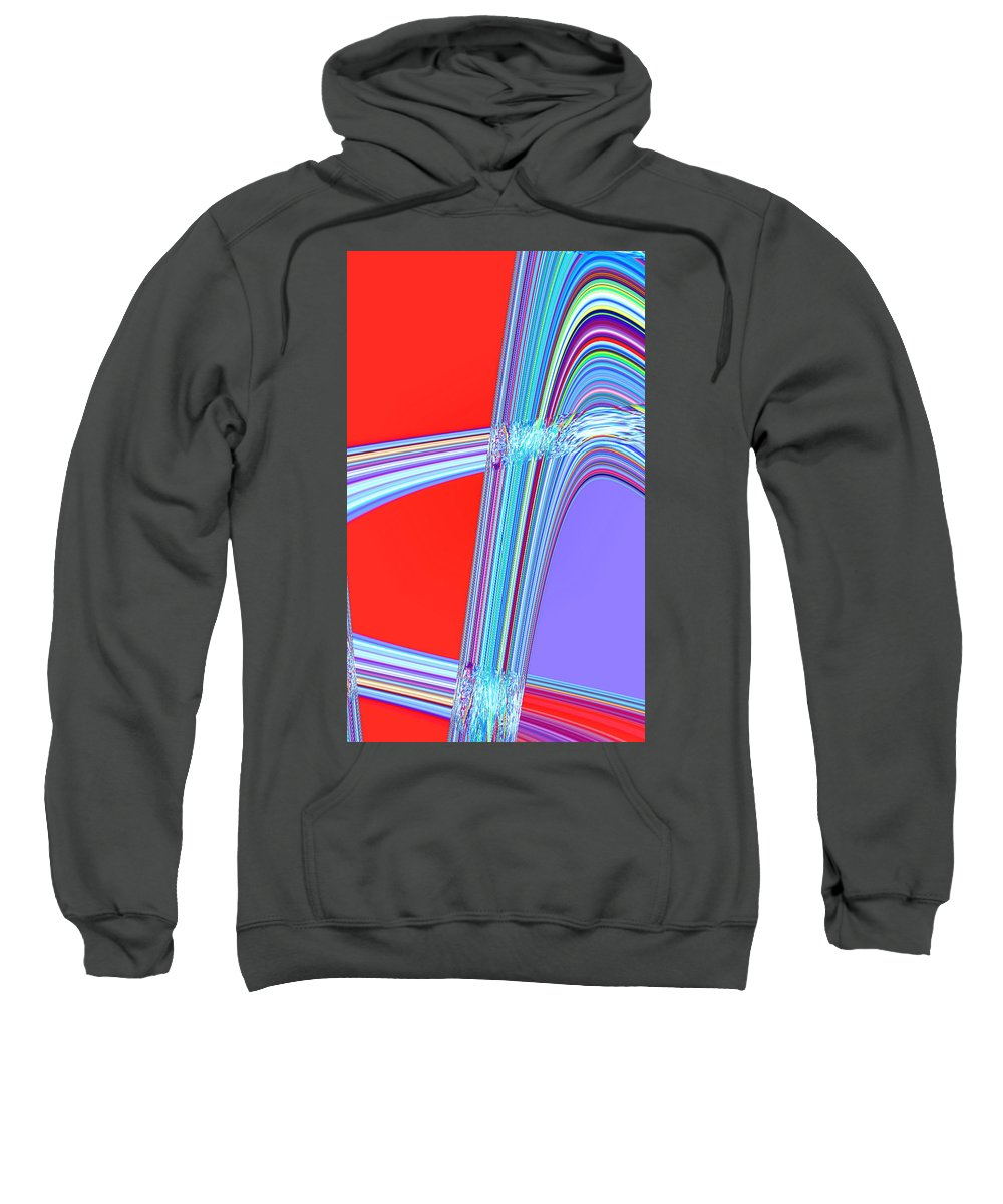 Moveonart! Digital Gallery Sweatshirt featuring the digital art Moveonart Live Move Collaborate by Jacob Kanduch