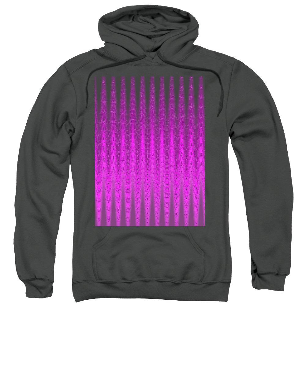 Moveonart! Digital Gallery Sweatshirt featuring the digital art Moveonart Mysterious Violet Curtain by Jacob Kanduch