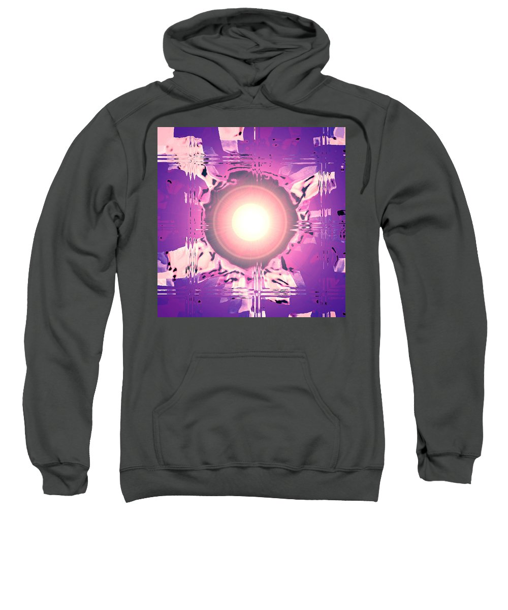 Moveonart! Digital Gallery Sweatshirt featuring the digital art Moveonart Oh Is That So  Violet by Jacob Kanduch
