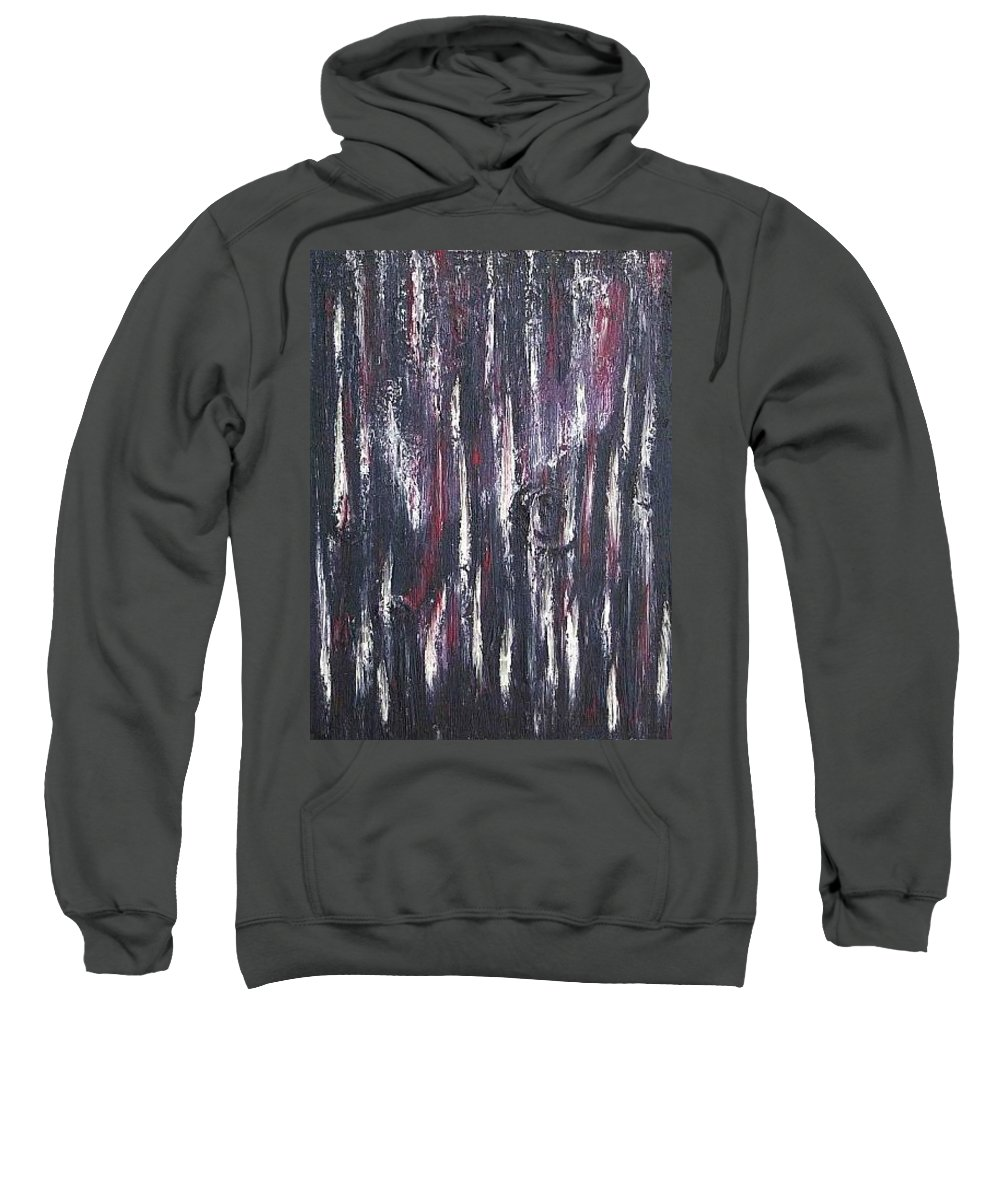 M Sweatshirt featuring the painting Moveonart Protecting My Thoughts by Jacob Kanduch
