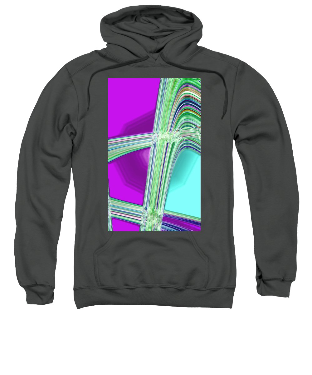 Moveonart! Digital Gallery Sweatshirt featuring the digital art Moveonart Provide Us With Waves Amen by Jacob Kanduch