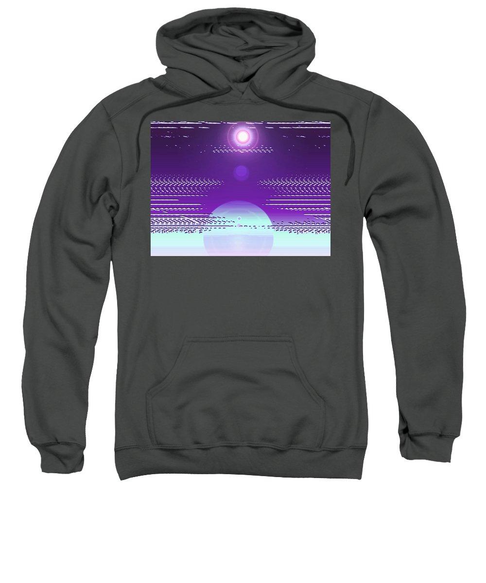 Moveonart! Digital Gallery Sweatshirt featuring the digital art Moveonart Violet Light Of Charitable Consciousness by Jacob Kanduch
