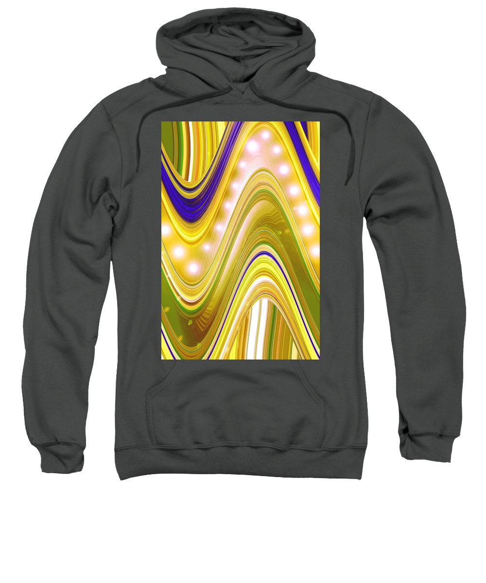 Moveonart! Digital Gallery Sweatshirt featuring the digital art Moveonart Wave Of Enlightenment Four by Jacob Kanduch