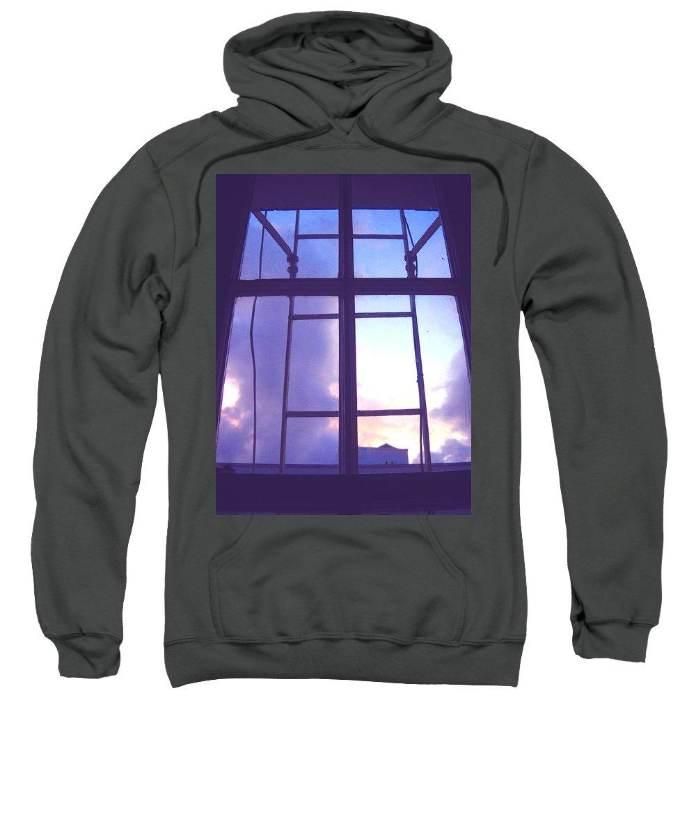 Moveonart Digital Gallery San Francisco California Lower Nob Hill Jacob Kane Kanduch Sweatshirt featuring the digital art Moveonart Window Watching Series 5 by Jacob Kanduch