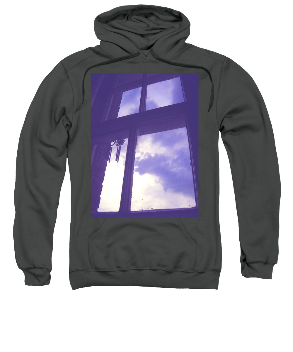 Moveonart Digital Gallery San Francisco California Lower Nob Hill Jacob Kane Kanduch Sweatshirt featuring the photograph Moveonart Window Watching Series 6 by Jacob Kanduch