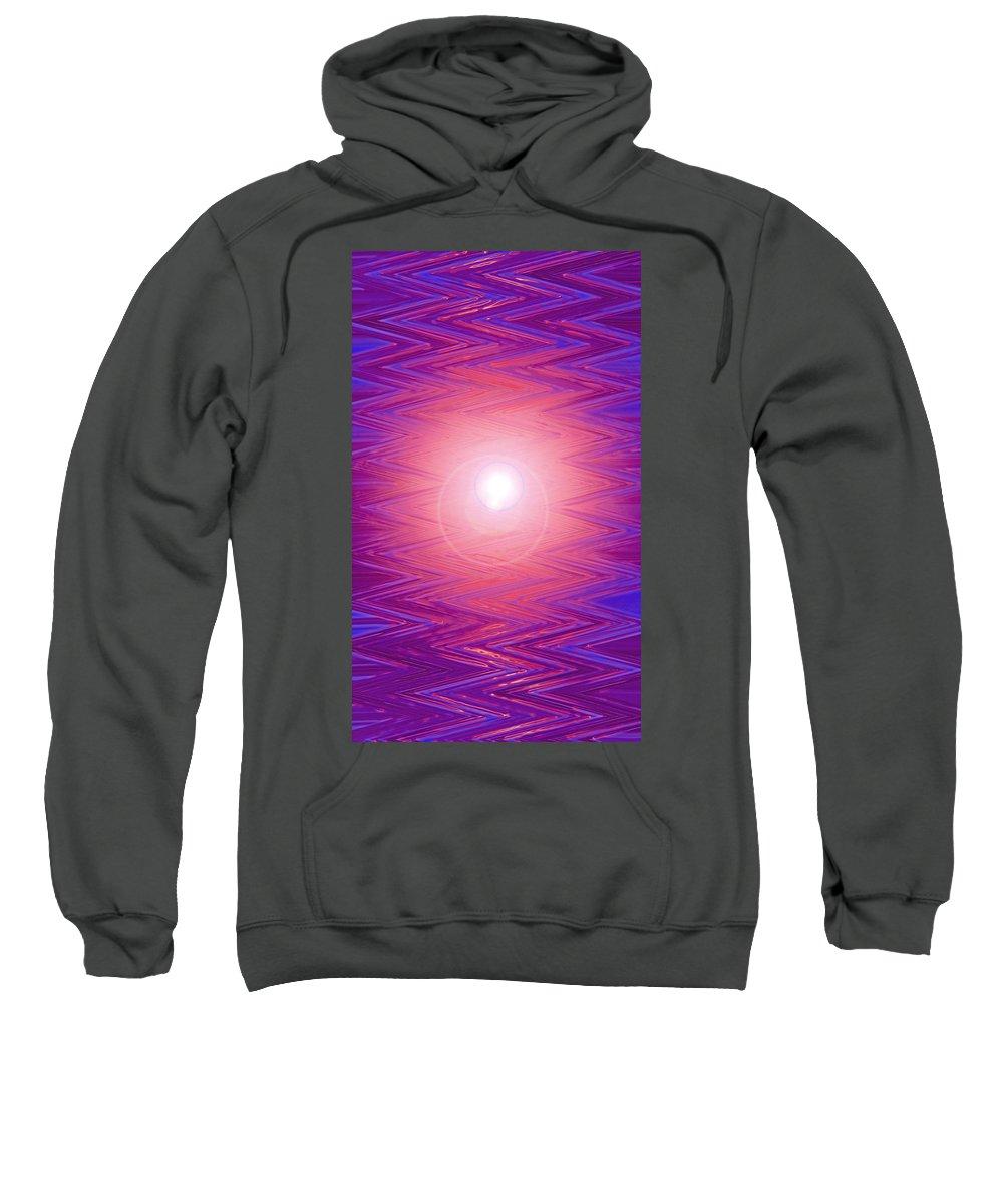 Moveonart! Digital Gallery Sweatshirt featuring the digital art Moveonart Zig Zag Therapy Two by Jacob Kanduch