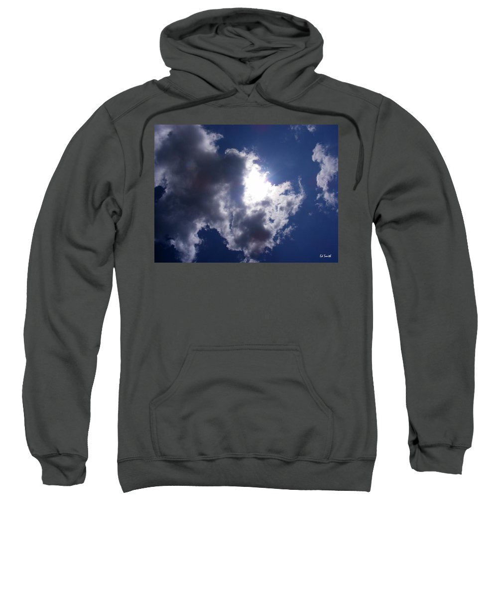 Mr Blue Sky Sweatshirt featuring the photograph Mr Blue Sky by Ed Smith