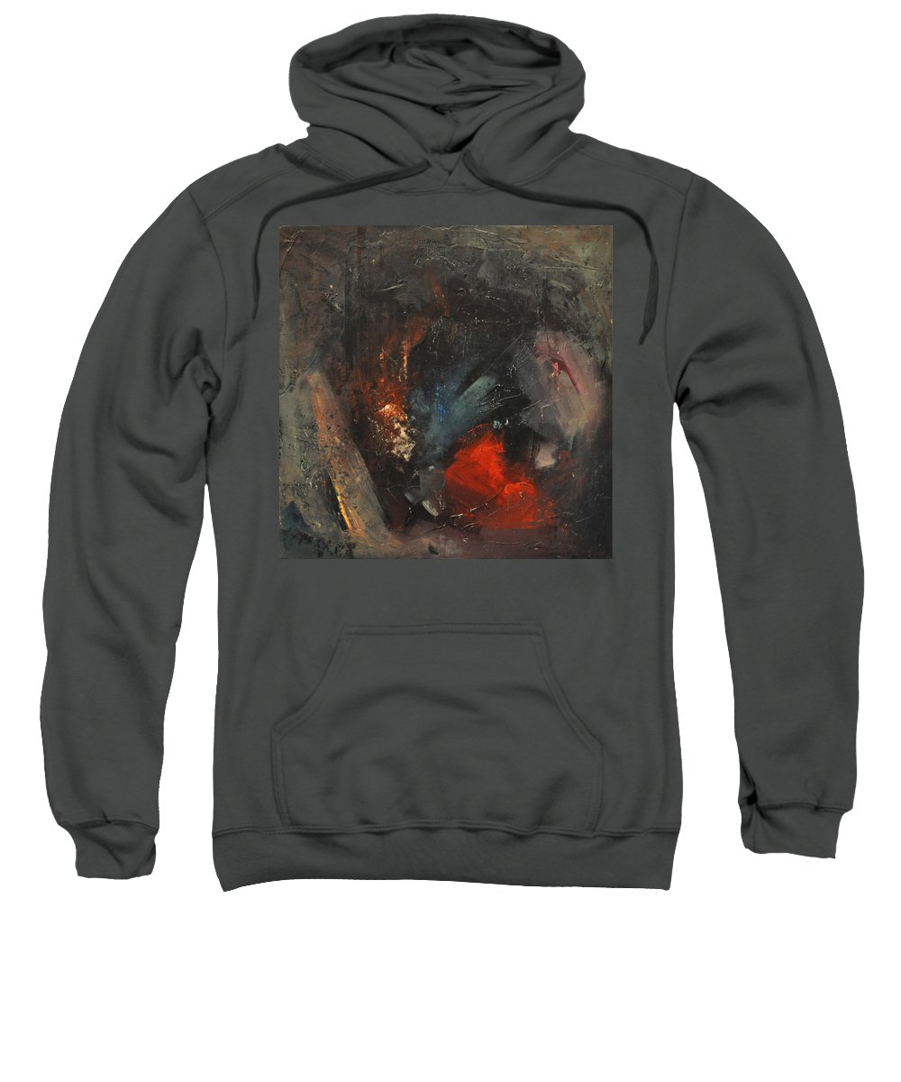 Bush Sweatshirt featuring the painting Mr. Cheney Arrives In Hell by Tim Nyberg
