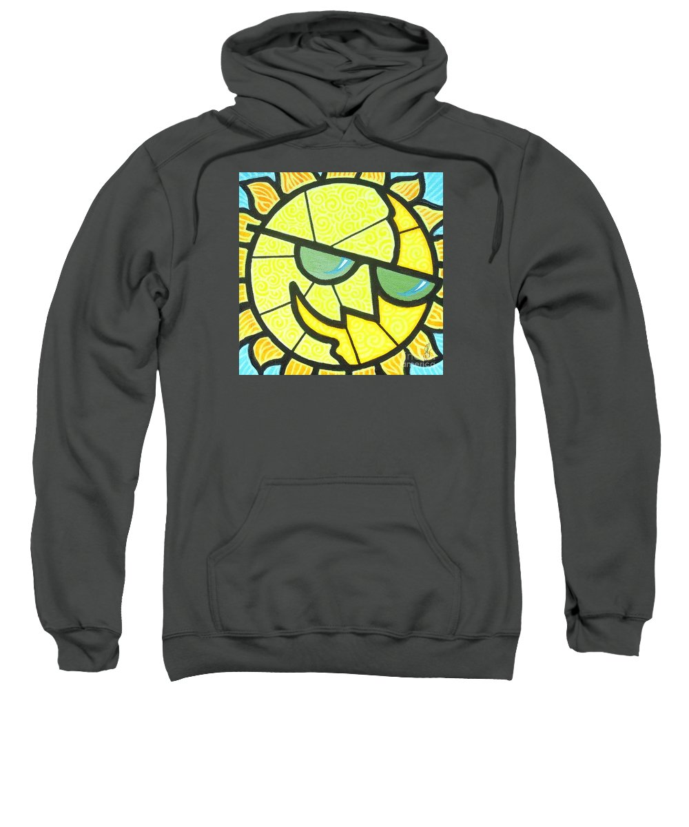 Sunshine Sweatshirt featuring the painting Mr Sunny Day by Jim Harris