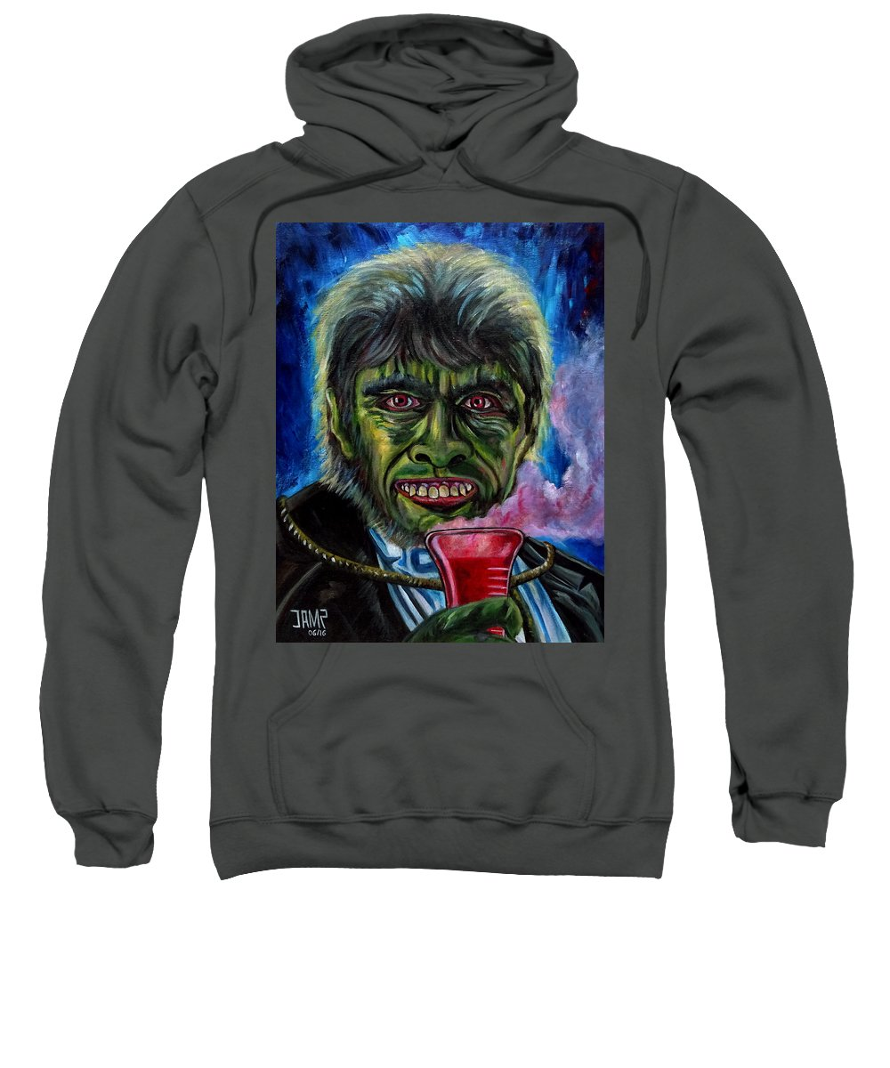 Mr.hyde Sweatshirt featuring the painting Mr.hyde by Jose Mendez