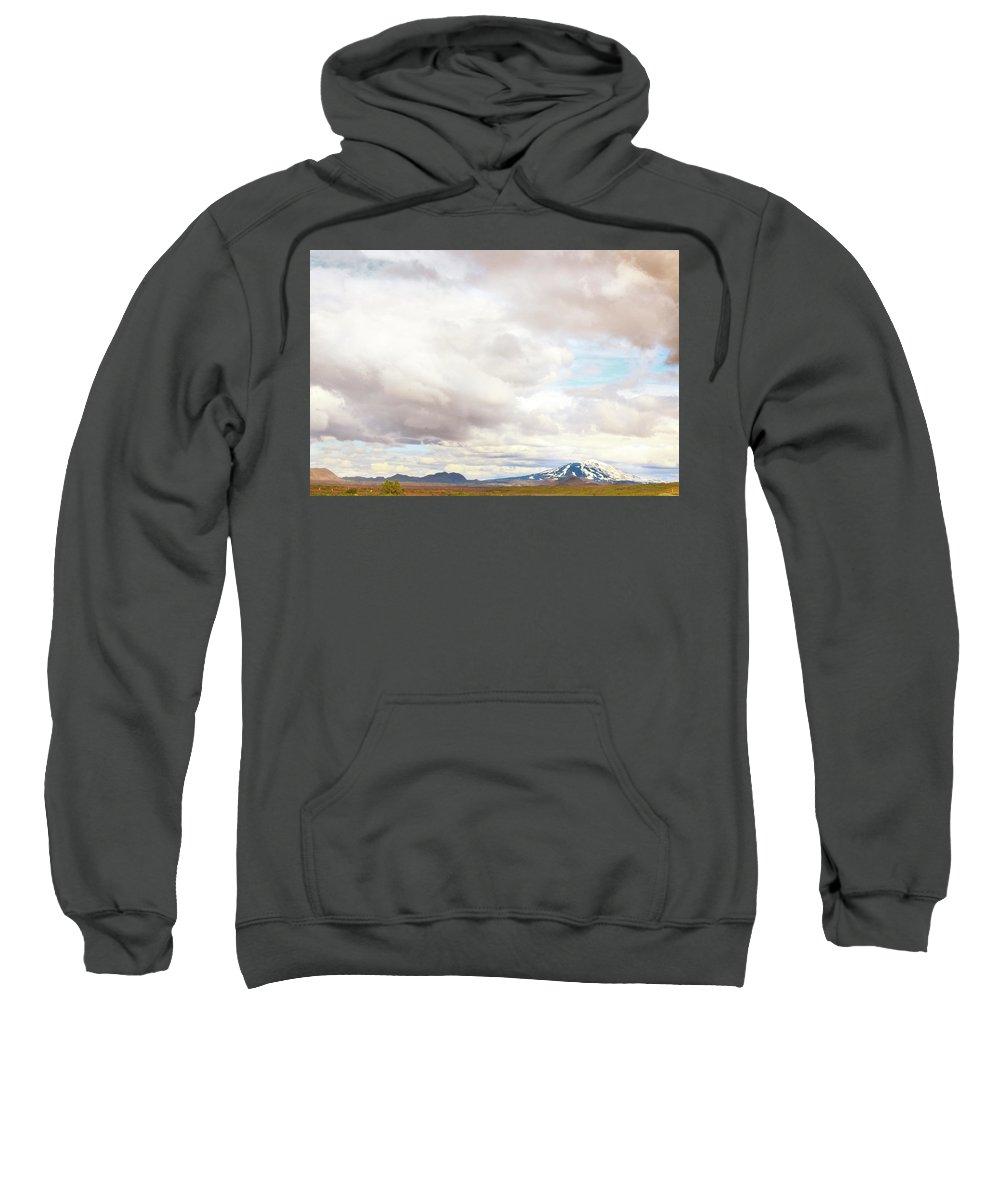 Hekla Sweatshirt featuring the photograph Mt Hekla by Sigrun Saemundsdottir