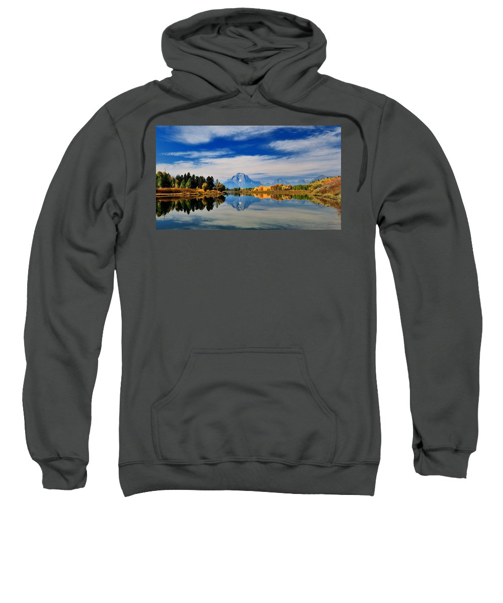 Moran Sweatshirt featuring the photograph Mt. Moran by Dongin Lee