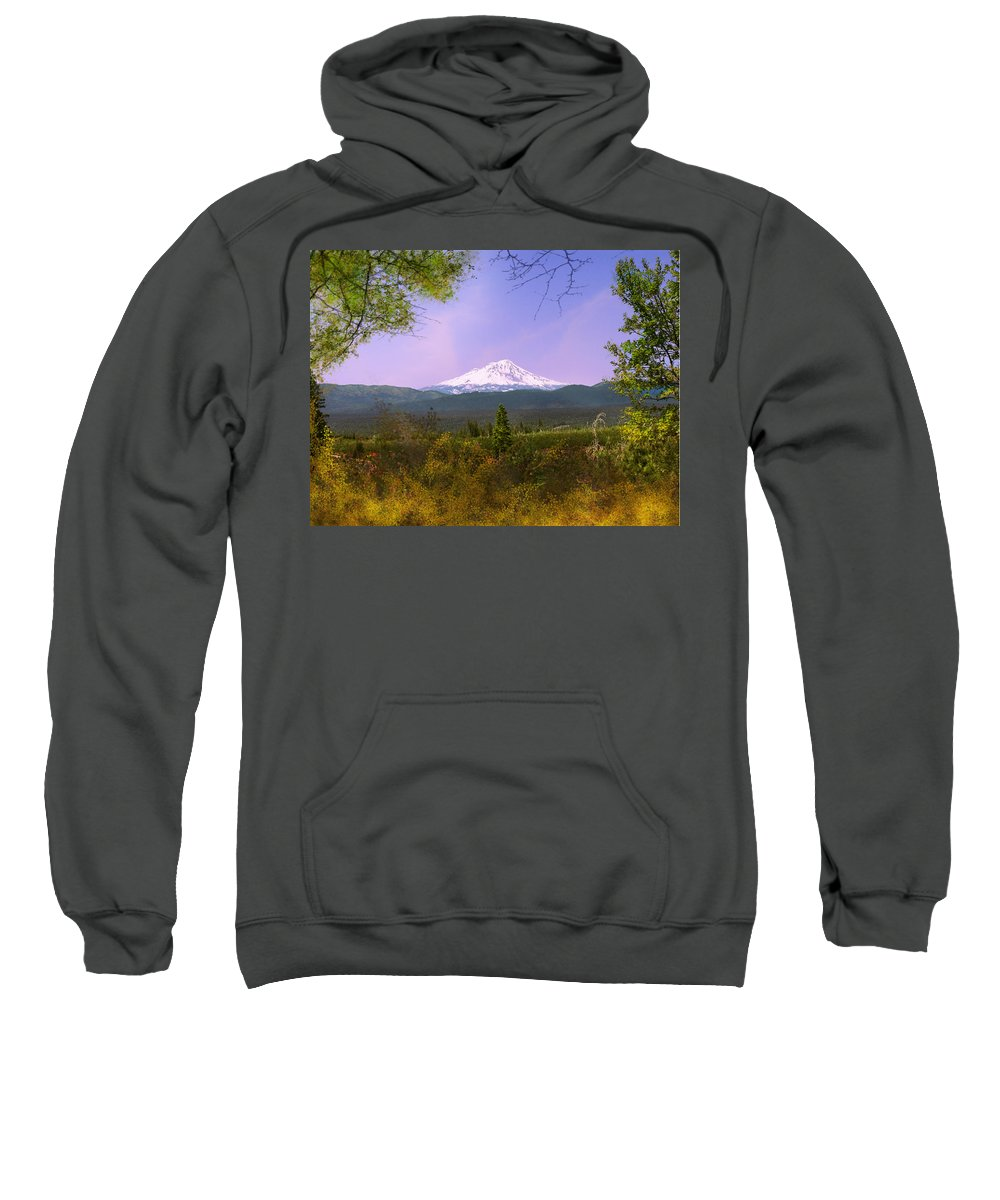 Landscapes Sweatshirt featuring the photograph Mt. Shasta by Karen W Meyer