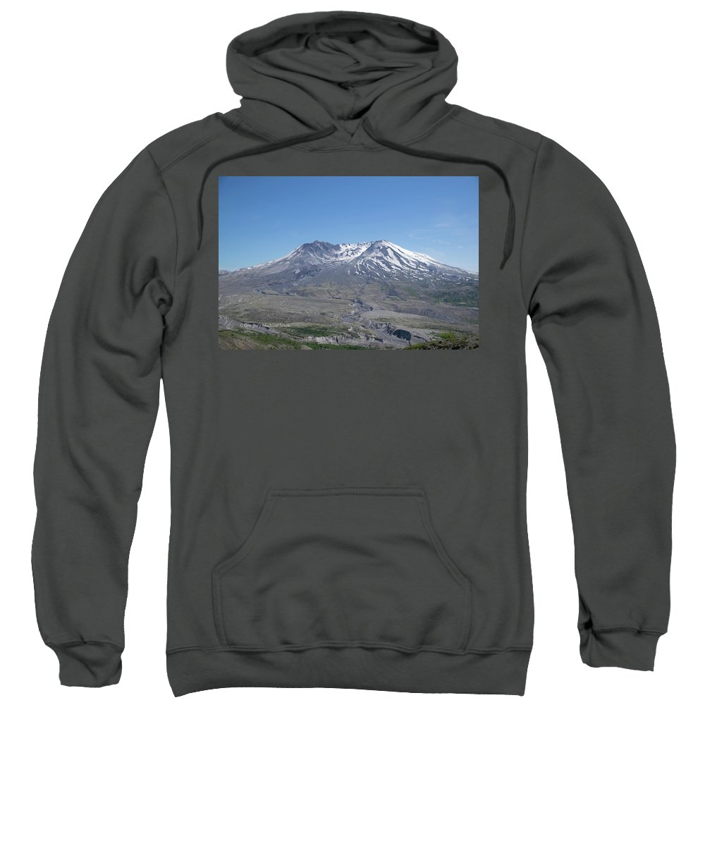 Sweatshirt featuring the photograph Mt. St.helens 2018 by Safe Haven Photography Northwest