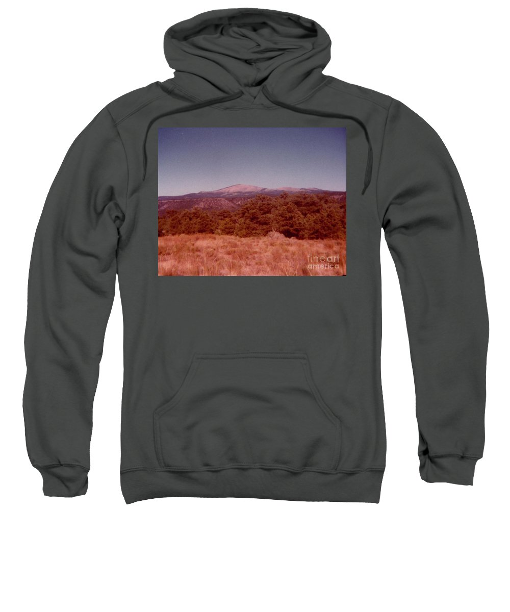 Mt Taylor In New Mexico Prints Sweatshirt featuring the photograph Mt Taylor In New Mexico by Ruth Housley