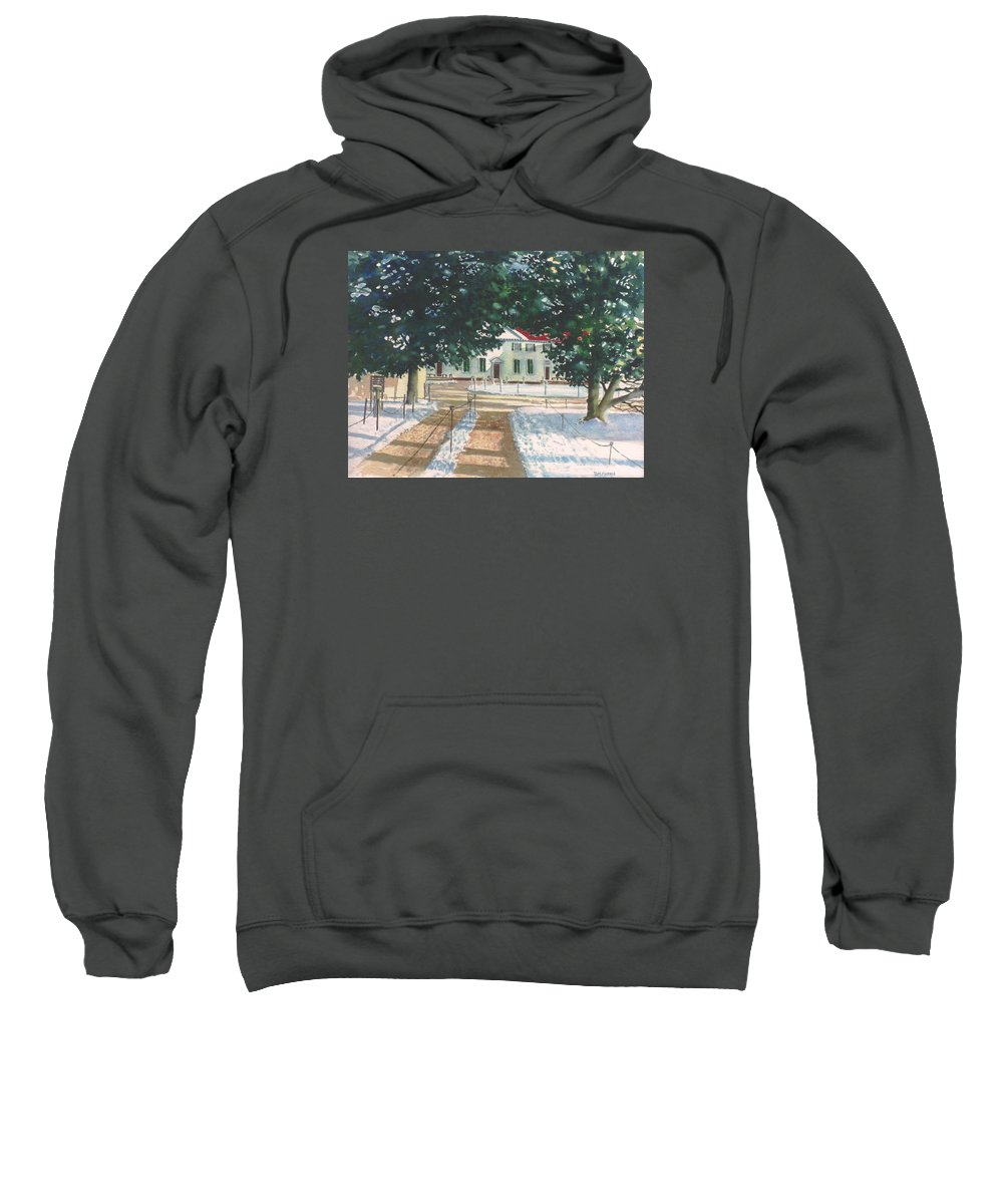 Landscape Sweatshirt featuring the painting Mt. Vernon After The Visitors Have All Gone Home by Tom Harris