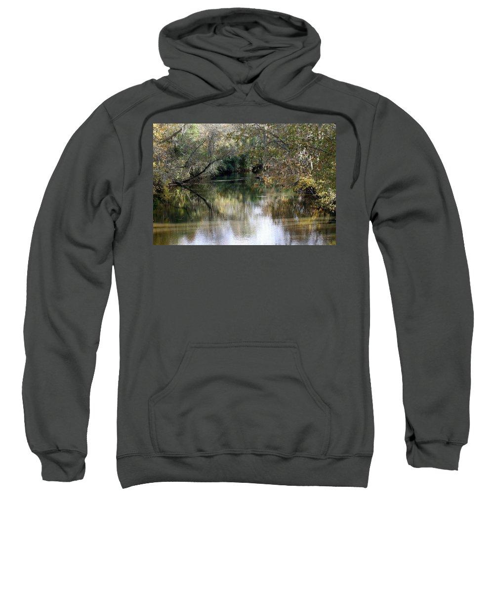 Muckalee Creek Sweatshirt featuring the photograph Muckalee Creek by Jerry Battle