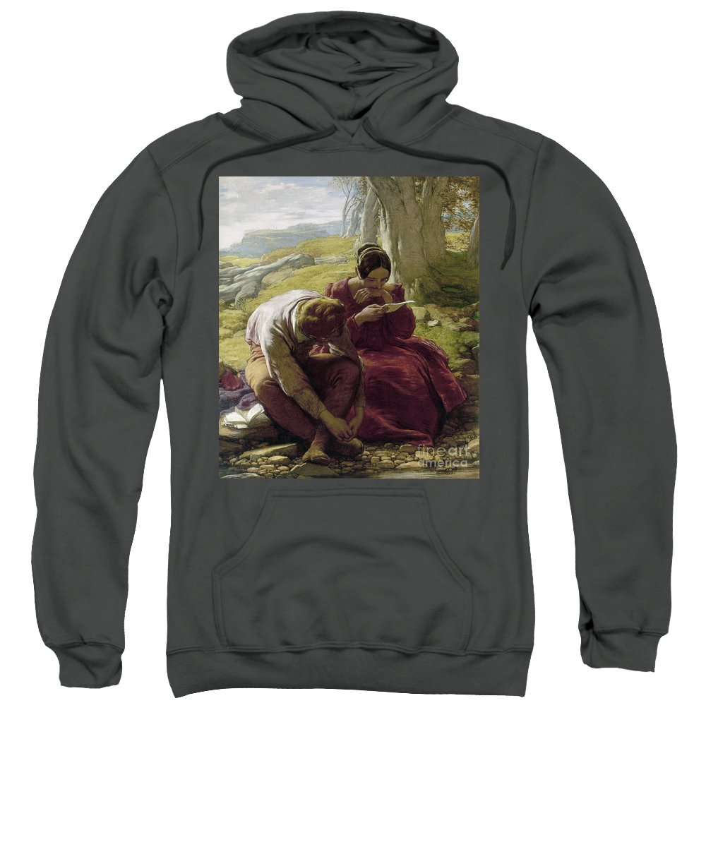 1839 Sweatshirt featuring the photograph Mulready: Sonnet, 1839 by Granger