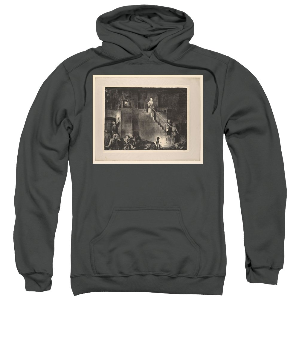 Girl Sweatshirt featuring the painting Murder Of Edith Cavell, First State By George Bellows 1882-1925 by George Bellows