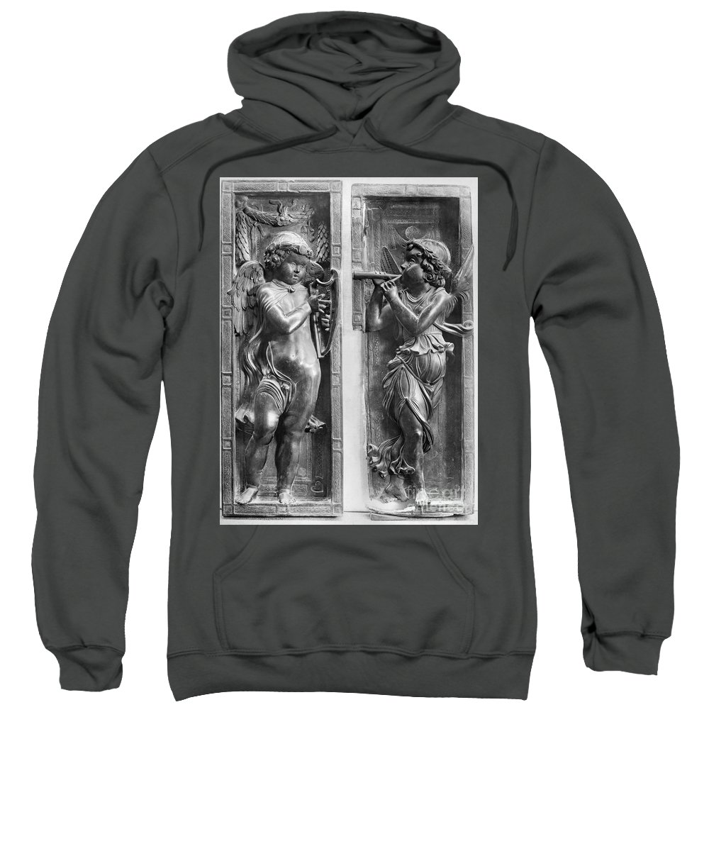 1450 Sweatshirt featuring the painting Musician Angels, C1450 by Granger