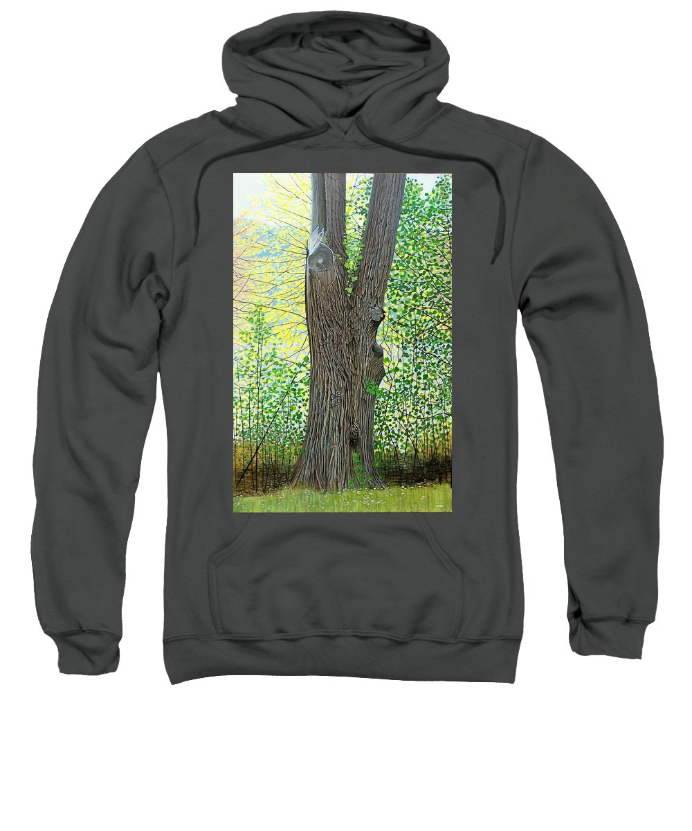 Landscape Sweatshirt featuring the painting Muskoka Maple by Kenneth M Kirsch