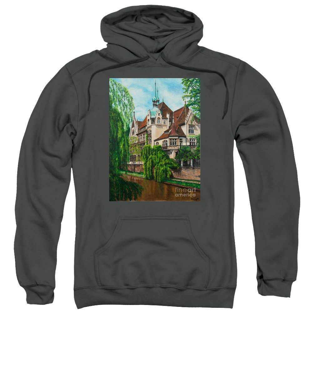 Dream House Sweatshirt featuring the painting My Dream House by Charlotte Blanchard