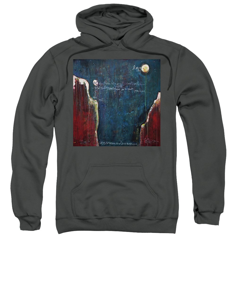Love Sweatshirt featuring the painting My Heart by Laurie Maves ART