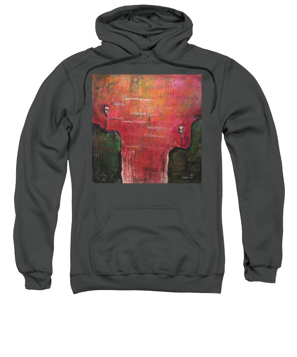 Laurie Maves Sweatshirt featuring the painting My Hill Painting by Laurie Maves ART