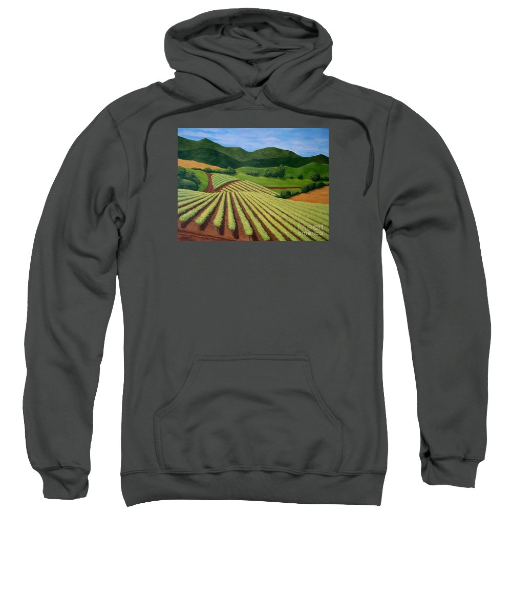 Vineyard Sweatshirt featuring the painting My Vineyard by Shawn Stallings