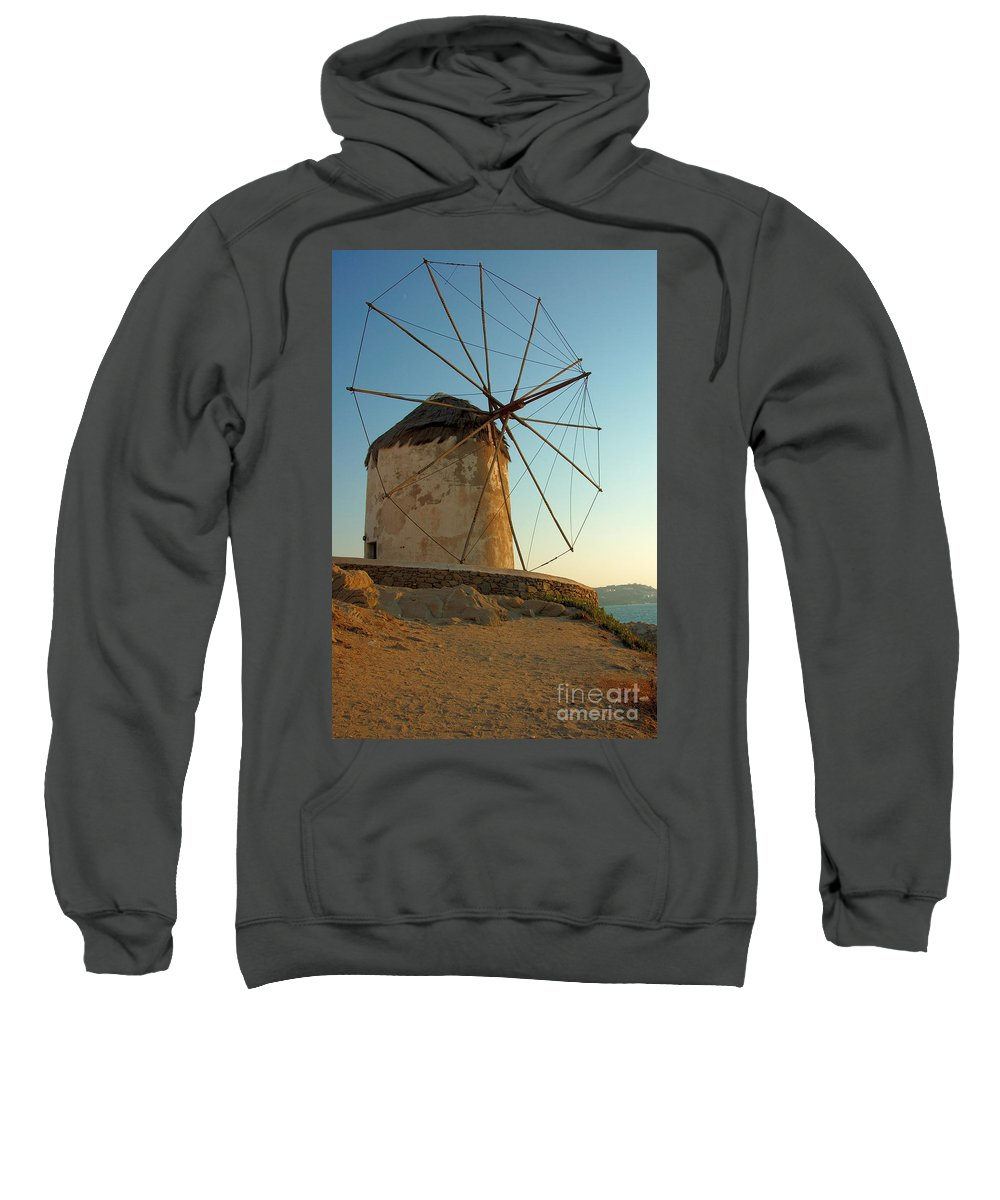Beach Sweatshirt featuring the photograph Mykonos Windmill by Joe Ng