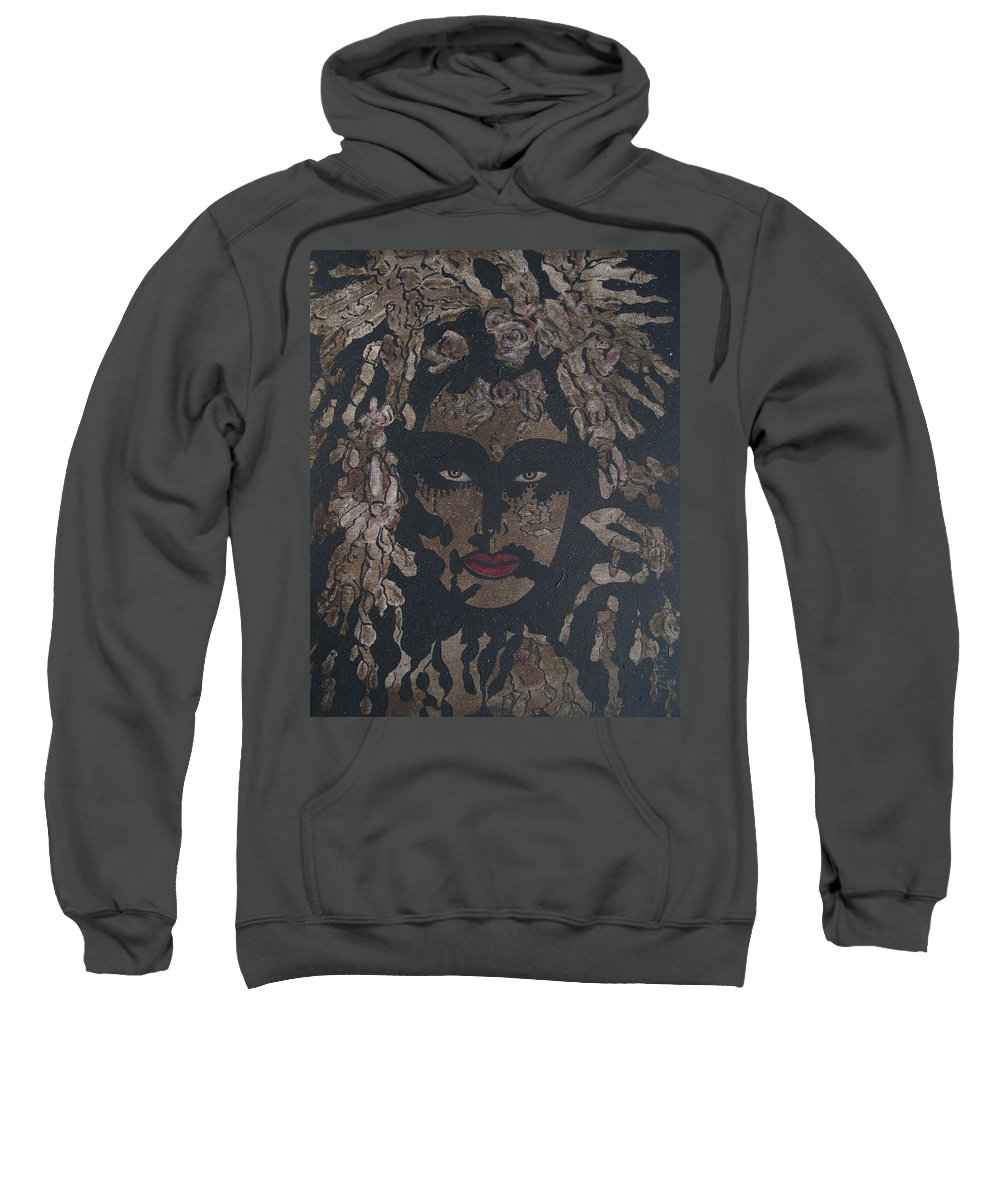 Figurative Sweatshirt featuring the painting Mysterious Desire by Natalie Holland