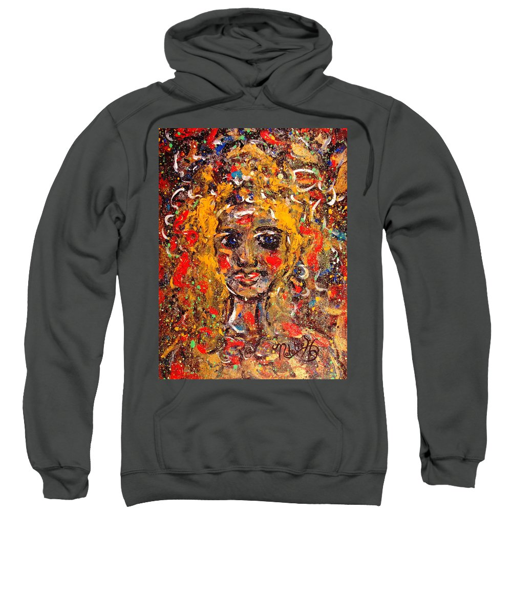Impressionism Sweatshirt featuring the painting Mysterious Eyes by Natalie Holland