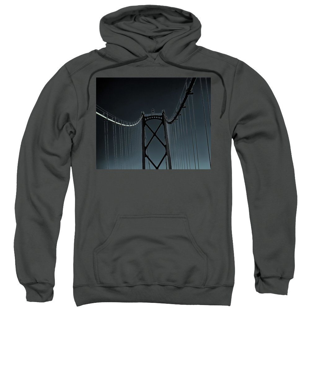 Lions Gate Bridge Sweatshirt featuring the photograph Mystic Bridge by Sheryl R Smith