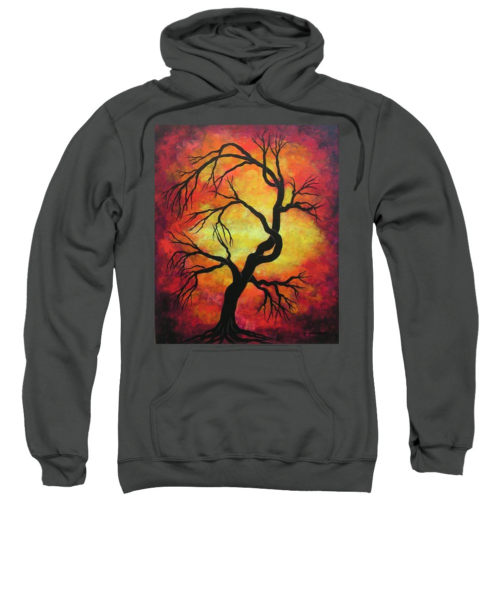 Acrylic Sweatshirt featuring the painting Mystic Firestorm by Jordanka Yaretz